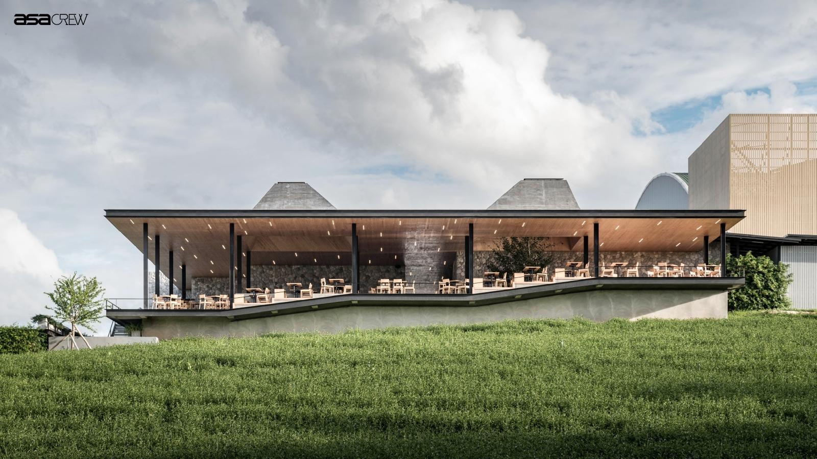 Chouifong Tea Cafe Phase II เมื่อแสงอาทิตย์ถูกสถาปนิกจับลงมาใช้ประโยชน์และสร้างอารมณ์ความรู้สึกในงานออกแบบ